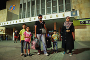 The Zedan family came from Edlib in Syria. The father used to work as an electrician and the mother as a french language teacher. They travel with their children that are 5, 6 and 8 years old. They have been travelling for a month and they crossed to Greece from Turkey on a dinghy that landed at Samos island. <br /> Refugees often arrive to Thessaloniki by train and then they go to the intercity bus station to board on the bus to Eidomeni border where they can cross to the Republic of Macedonia on foot.