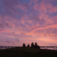 Salisbury Mills, New York - Morning at the Moodna Viaduct railroad trestle on Aug. 12, 2014.