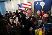 BEAUFORT, S.C. _ FEBRUARY 17, 2016: Presidential candidate Jeb Bush poses for photos and greets supporters during a campaign stop, Wednesday, Feb. 17, 2016 in Beaufort, S.C.  CREDIT: Stephen Morton for The New York Times