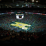 Key Arena during Battle In Seattle. Photo by Austin Ilg