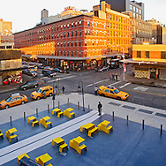 New York CIty, NY, Meatpacking District, or Gansevoort Market, view from Highline
