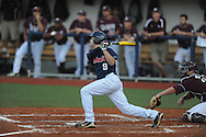 Ole Miss' Auston Bousfield hits a bases loaded triple vs. Mississippi State at Oxford-University Stadium in Oxford, Miss. on Saturday, May 11, 2013. Ole Miss won 10-8 in the second game of a doubleheader..