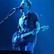 June 17, 2006; Manchester, TN.  2006 Bonnaroo Music Festival..Radiohead peforms at Bonnaroo 2006.  Photo by Bryan Rinnert.Radiohead peforms at Bonnaroo 2006.  Photo by Bryan Rinnert
