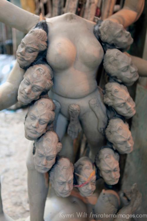 Asia, India, Calcutta. Clay sculpture at the potter's village of Kumartuli in Calcutta.