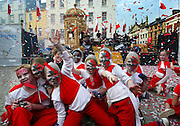 1/5/2004.Members of Wyd-moves the dance section of Waterford youth drama pictured celebrating Malta's entry to the EU as part of the day of Welcomes celebrations in Waterford..Picture Dylan Vaughan.