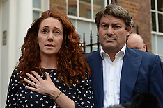 JUN 26 2014 Rebekah Brooks giving a statement on Phone hacking verdict