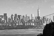 Alpine, New Jersey - Views of the Hudson River, George Washington Bridge and the Manhattan skyline on July 24, 2015.