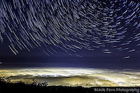 A multi shot composite from a timelapse sequence shot half way up El tiede in Tenerife this Summer