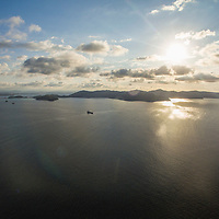 Arial of islands, Kota Kinabalu, Borneo, Malaysia, South China Sea,