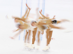 Akiko Suzuki of Japan performs during the women's Free Skating of the Figure Skating team event at the Iceberg Skating Palace during the Sochi 2014 Olympic Games, Sochi, Russia, 09 February 2014.