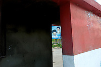 Hezbollah was formed in the early 80's, inspired by Ayatollah Khomeini. His image can be seen all over southern lebanon. The other man in the bottom left of the poster is Sheikh Mohammed Hussein Fadlallah, hezbollahs current spiritual leader.The photo was taken in Amoun near to Beafort Castle, Southern Lebanon.
