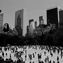 Ice Skaters in Central Park, New York City