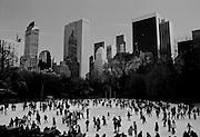 Ice Skaters in Central Park, New York City