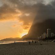 São Conrado's beach at sunset