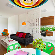 Modern colorful apartment in Warsaw Poland. Interior photography by Piotr Gesicki