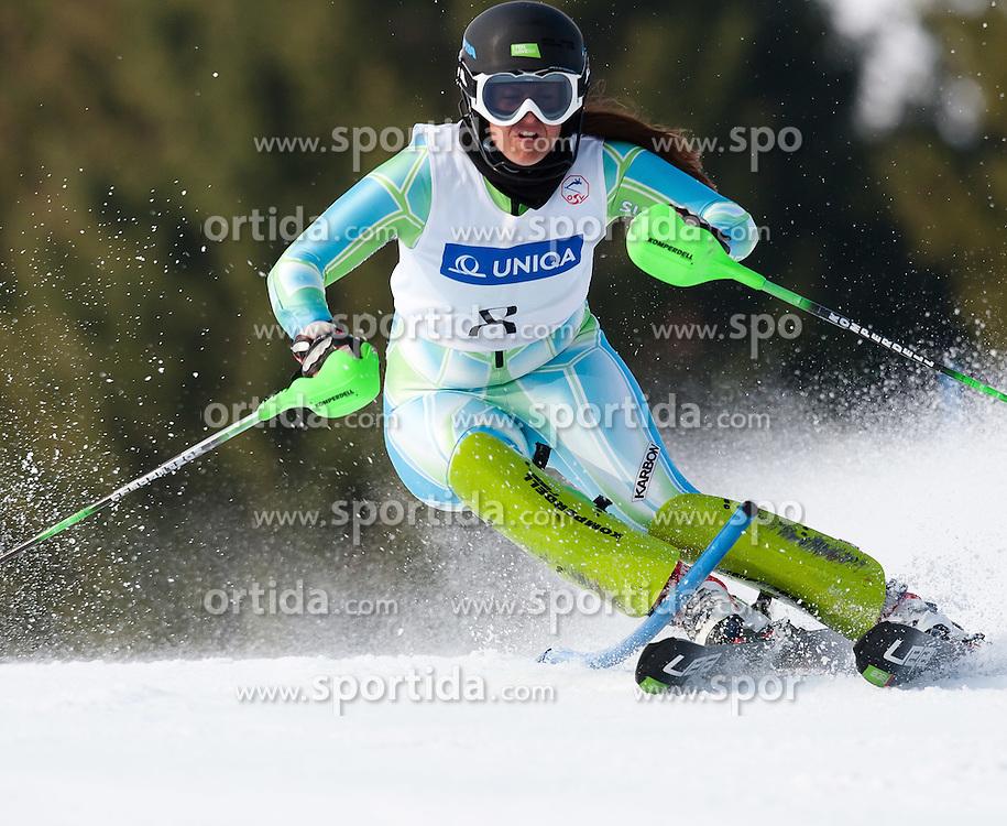 29.03.2011, Zwölferkogel, Saalbach Hinterglemm, AUT, Österreichische Staatmeisterschaften, Ski Alpin, Slalom Damen im Bild Ula Hafner (SLO), EXPA Pictures © 2011, PhotoCredit: EXPA/ J. Feichter / SPORTIDA PHOTO AGENCY
