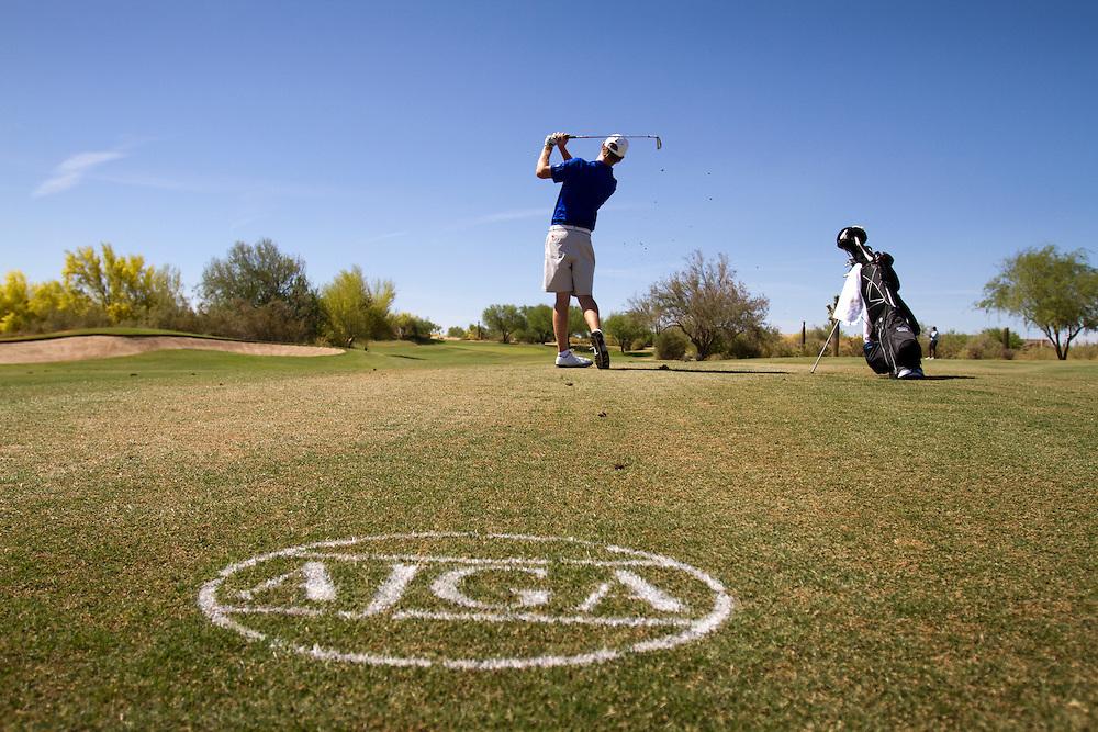 American Junior Golf Association player Grayson Murray at the Thunderbird International Junior tournament.