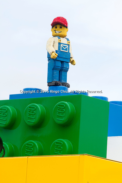 Lego figures at the entrance of Legoland in Carlsbad, California(Photo by Ringo Chiu/PHOTOFORMULA.com)