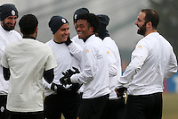 Vinovo 21.02.2017 - Allenamento di vigilia di Porto-Juventus - Champions League 2016-17 - Nella foto:  I giocatori della Juventus scherzano durante l'allenamento