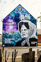 Kingston Upon Hull, East Yorkshire, United Kingdom, 07 May, 2016. Pictured: Lillian Bilocca wall mural, Pease Street