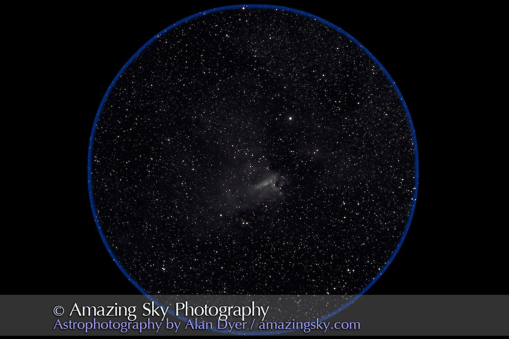 Taken with 4-inch Traveler AP refractor at f/4.5 for 4 x 4-minute exposures at ISO800. Taken from Coonobarabran, Australia, July 26, 2006. Taken with Canon 20Da camera.
