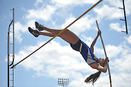 Oxford High's Sally Rychlak participates in the pole vault in the MHSAA Class 5A North Half Track Meet in Oxford, Miss. on Saturday, May 4, 2013.