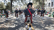 during the 191st St. Patrick's Day parade, Tuesday, March 17, 2015, in Savannah, Ga.Organizers have long billed the Savannah St. Patrick's Day parade as the nation's second largest based on the size of the procession, rather than the number of people watching. (AP Photo/Stephen B. Morton)
