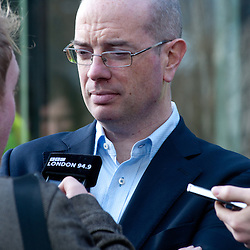 London, UK - 9 december 2013: Andrew Gilligan, London's cycling commissioner, releases interviews