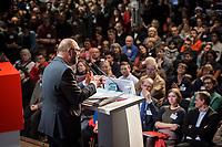 22 MAR 2017, BERLIN/GERMANY:<br /> Martin Schulz, SPD Parteivorsitzender und Spitzenkandidat der SPD zur Bundestagswahl, haelt eine Rede auf dem Neumitgliedertreffen der Berliner SPD, Festsaal Kreuzberg<br /> IMAGE: 20170322-02-117<br /> KEYWORDS: Martin Schulz, speech, Kanzlerkandidat, candidate