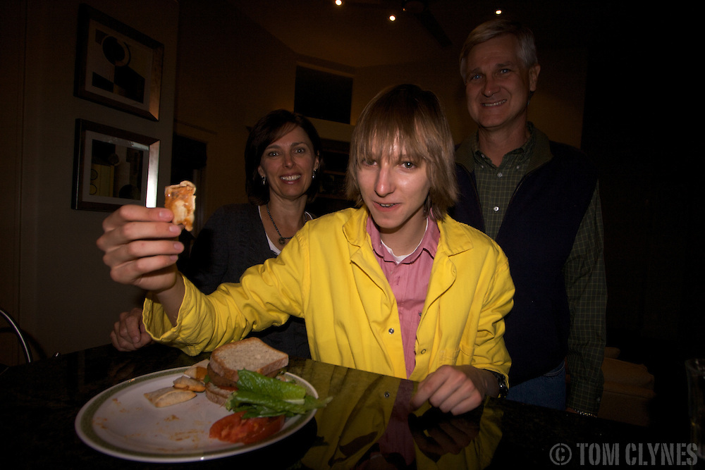 Taylor Wilson  with his parents, Tiffany and Kenneth Wilson, at their house in Reno, Nevada. Taylor Wilson is the youngest  individual on Earth to have achieved a nuclear fusion reaction....