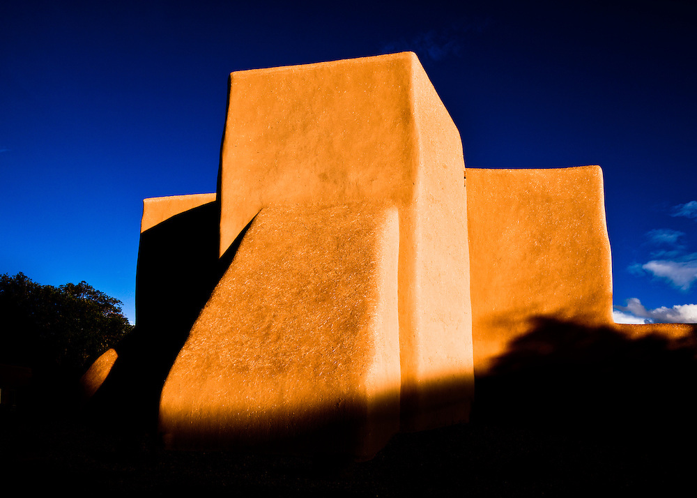 The back of San Francisco de Asis Church in Ranchos de Taos, New Mexico.