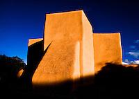 The back of San Francisco de Asis Church in Ranchos de Taos, New Mexico.