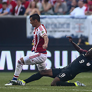 United States Attacker GYASI ZARDES (9) makes a diving tackle in the first half of a Copa America Centenario Group A match between the United States and Paraguay Saturday, June. 11, 2016 at Lincoln Financial Field in Philadelphia, PA.