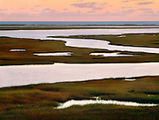 1000-1006 ~ Copyright:  George H. H. Huey ~ Nauset Marsh with Atlantic beach in distance, at dawn.  Cape Cod National Seashore, Massachusetts.