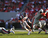Ole Miss quarterback Bo Wallace (14) vs. Georgia at Sanford Stadium in Athens, Ga. on Saturday, November 3, 2012.