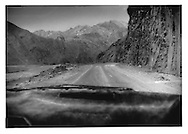 Unsealed road through the Panjshir Valley, the former safe haven of Ahmed Massoud and the northern Alliance, Afghanistan.