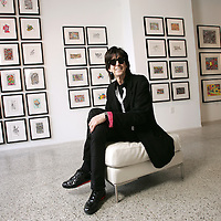 Ric Ocasek at the Mahan Gallery for the opening of his exhibit, Noise Colored Party. (Jodi Miller/Alive)...