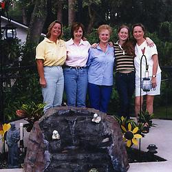 LaBuda ladies by Grandma & Grandpa's pool