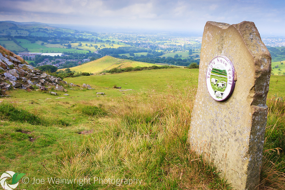 Tegg's Nose is a hill near Macclesfield, which was quarried for Millstone Grit, from the 16th to the mid 20th century.  It is a country park managed by Cheshire East Council.