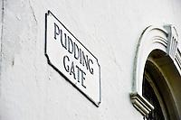 Bishop Burton, Pudding Gate sign on the methodist church
