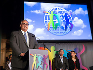 Javier Stauring, USA, was commended by the World&rsquo;s Children&rsquo;s Prize 2015 for his 20-year struggle for children who have been imprisoned, survivors of violence, and their families. His award was presented during the World&rsquo;s Children&rsquo;s Prize Ceremony 2015, at Gripsholms Castle in Mariefred, by H.R.M. Queen Silvia of Sweden and the World&rsquo; Children&rsquo;s Prize Child Jury. <br /> Photo: Sofia Marcetic/World's Children's Prize<br /> <br /> Since the year 2000, the World&rsquo;s Children&rsquo;s Prize program has educated and empowered over 38 million children. It&rsquo;s the world&rsquo;s largest annual educational initiative for equality, the rights of the child and democracy. The program is run annually in schools worldwide. Each year, three out&not;standing child rights heroes are selected by the Child Jury as candidates for the World&rsquo;s Children&rsquo;s Prize for the Rights of the Child.  The three candidates are then presented to the world&rsquo;s children through  the WCP magazine The Globe, video, web and social media. Tens of thousands of volunteers and organisations help to implement the WCP program every year, including at least 50,000 teachers and over a hundred organisations, social enterprises and departments of education. Over 67,000 schools in 113 countries have signed up for the WCP.<br />     The WCP program concludes with an annual Global Vote in which millions of children vote to elect their child rights hero of the Year. The majority of children who participate are vulnerable, such as former child soldiers and child slaves. Three global legends have got behind the WCP as patrons: Nelson Mandela, Aung San Suu Kyi, and Xanana Gusm&atilde;o. Other patrons include H.M. Queen Silvia of Sweden, Gra&ccedil;a Machel and Desmond Tutu.<br />    The WCP program was founded in the year 2000 and is run by Swedish non-profit the World&rsquo;s Children&rsquo;s Prize Foundation (WCPF). The WCPF receives funding from several bodies including the Swedish Postcode Lottery, Sida (the Swedish International Development Cooperation Agency),