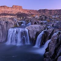 Idaho Falls at dawn, Twin Falls, Idaho, USA