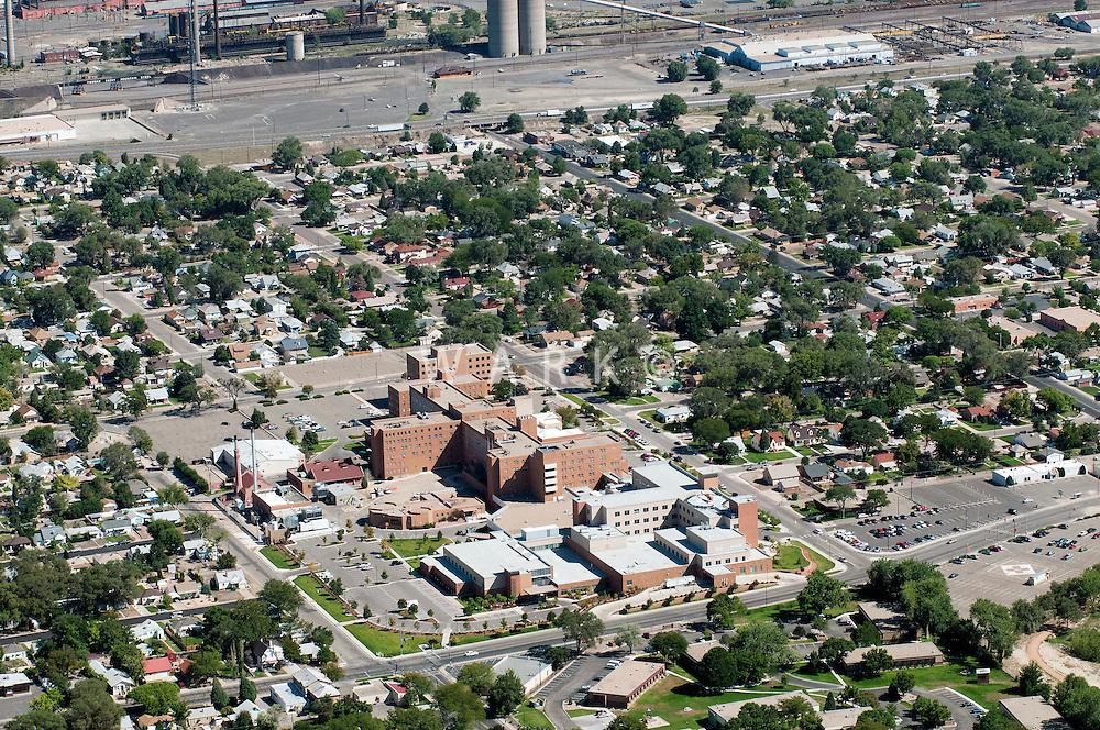 Aerial of Saint Mary Corwin hospital