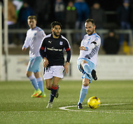 Forfar's Martyn Fotheringham and Dundee&rsquo;s Faissal El Bakhtaoui  - Forfar Athletic v Dundee, Martyn Fotheringham testimonial at Station Park, Forfar.Photo: David Young<br /> <br />  - &copy; David Young - www.davidyoungphoto.co.uk - email: davidyoungphoto@gmail.com