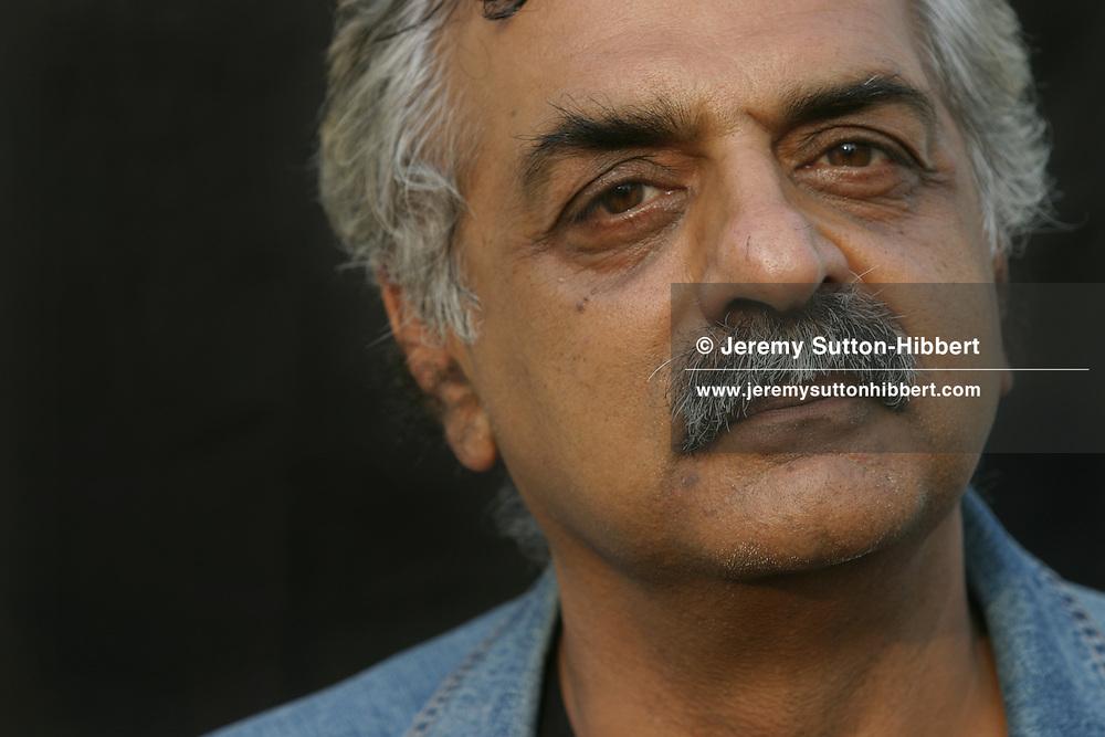 Tariq Ali, author and political and social commentator. Photographed at the Edinburgh International Books Festival.