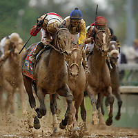 May 4, 2013 - Louisville, Kentucky, USA - Orb and Jockey Joel Rosario win the 139th running of the Kentucky Derby at Churchill Downs. (Credit Image: © David Stephenson/ZUMA Press)