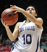 gbs030912bb/SPORTS/Greg Sorber --  Elida's Marily Varela scores on a fast break in during the B Girls State Championship game against Corona in the Pit on Friday, March 9, 2012. Elida won 59-41.