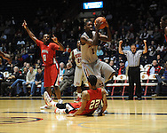 "Ole Miss' Terrance Henry (1) vs. Louisiana-Lafayette's Raymone Andrews (22) at C.M. ""Tad"" Smith Coliseum in Oxford, Miss. on Wednesday, December 14, 2011. (AP Photo/Oxford Eagle, Bruce Newman)"