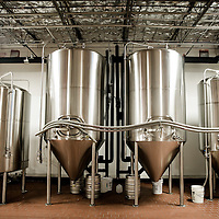 MIAMI, FLORIDA -- July 11, 2015 -- Tanks do their thing at the new Biscayne Bay Brewing Company in Miami, Florida.  (PHOTO / CHIP LITHERLAND)