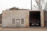 Forsyth, Montana, Truck in Garage